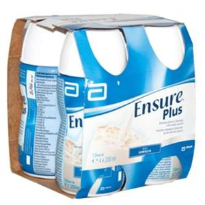 ENSURE PLUS VANIGLIA 4X200ML