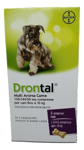 BAYER SpA (DIV.SANITA'ANIMALE) DRONTAL MULTI AR AROMA CARNE*6 COMPRESSE