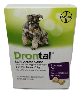 BAYER SpA (DIV.SANITA'ANIMALE) DRONTAL MULTI AROMA CARNE*2 COMPRESSE