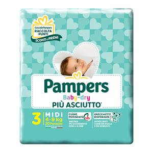 FATER SpA PAMPERS BABY DRY DOWNCOUNT MIDI 3 TG