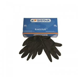 Sistar Black plus Guanti in lattice neri monouso taglia Extra Large  100pz